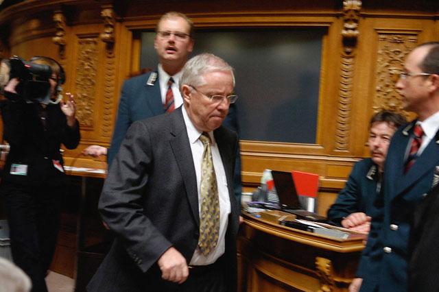 Nach der Abwahl so verletzt, dass er die Demokratie nicht mehr versteht: Blocher.