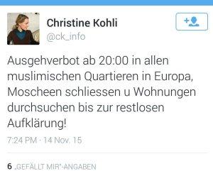 Öffentliche Äusserung einer FDP-Politikerin.